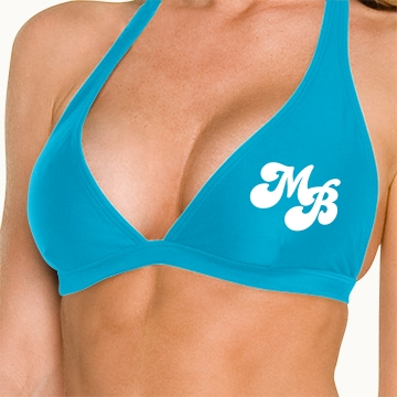 Blue Monogram Top