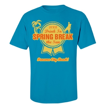 Blue Ribbon Spring Break Unisex Gildan Heavy Cotton Crew Neck Tee