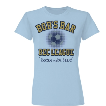 Bob's Bar Soccer League Junior Fit Basic Bella Favorite Tee