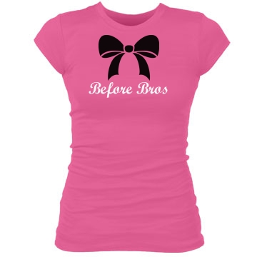 Bows Before Bros Junior Fit Bella Sheer Longer Length Rib Tee