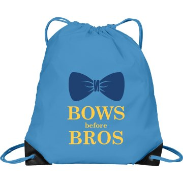 Bows Before Bros Port & Company Drawstring Cinch Bag