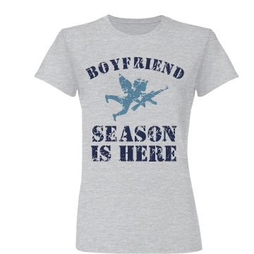 Boyfriend Season Is Here Junior Fit Basic Bella Favorite Tee