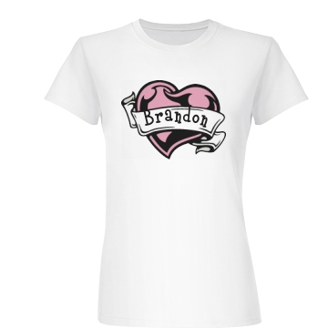 Brandon's Valentine Junior Fit Basic Bella Favorite Tee