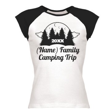 Branstad Family Retreat Junior Fit Bella 1x1 Rib Cap Sleeve Raglan Tee