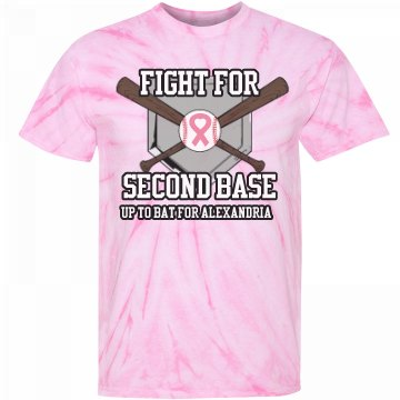 Breast Cancer Second Base Unisex Gildan Tie-Dye Cyclone Pinwheel Tee