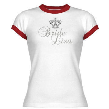 Bride Crown Tee Junior Fit Bella 1x1 Rib Ringer Tee
