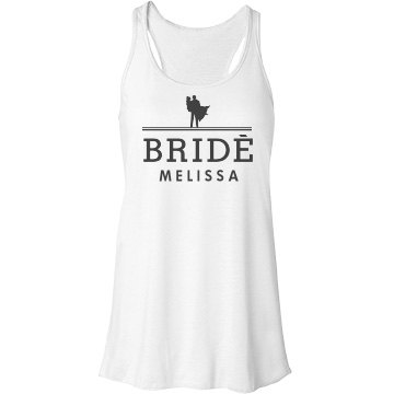 Bride Fashion Logo Bella Flowy Lightweight Racerback Tank Top