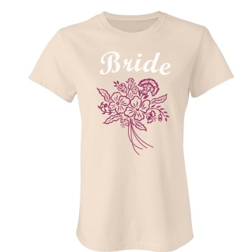 Bride Floral Bouquet Tee