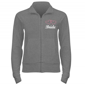 Bride Heart Jacket w/Back Junior Fit Bella Cadet Full Zip Track Jacket
