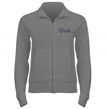 Bride Track Jacket Junior Fit Bella Cadet Full Zip Track Jacket