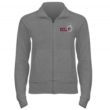 Bride Track Jacket w/Back Junior Fit Bella Cadet Full Zip Track Jacket