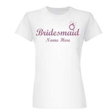 Bridesmaid Ring Junior Fit Basic Bella Favorite Tee