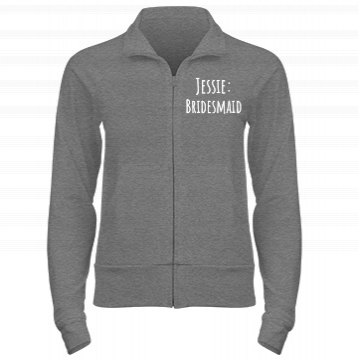 Bridesmaid Track Jacket