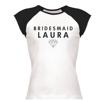 Bridesmaid With Ring Junior Fit Bella 1x1 Rib Cap Sleeve Raglan Tee