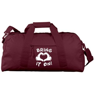 Bring It On Cheer Gear Liberty Bags Large Square Duffel Bag