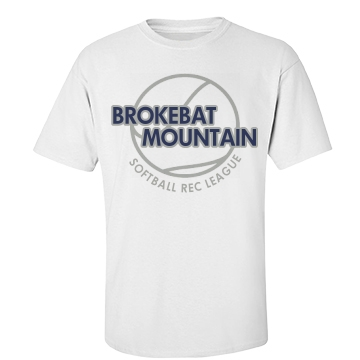 BrokeBat Mountain Unisex Basic Port & Company Essential Tee