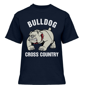 Bulldog Cross Country Misses Relaxed Fit Gildan Heavy Cotton Tee