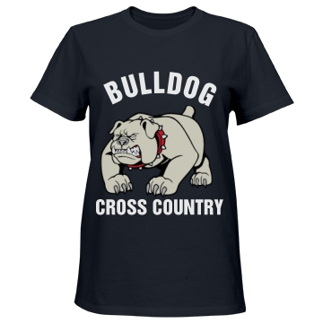 Bulldog Cross Country Misses Relaxed Fit Port & Company Essential Tee