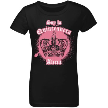 Soy la Quinceanera Junior Fit Bella Sheer Longer Length Rib V-Neck Tee