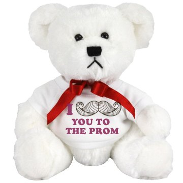 Mustache You to the Prom Medium Plush Teddy Bear