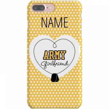 Army Girlfriend Case Rubber iPhone 4 & 4S Case Black
