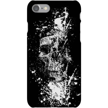 Skull Grafitti iPhone Plastic iPhone 5 Case Black