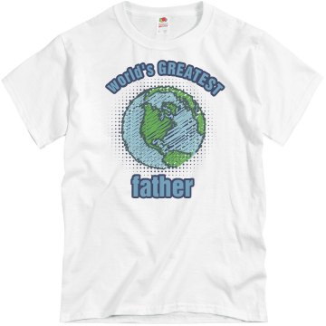 World&#x27;s Greatest Father Unisex Basic Gildan Heavy Cotton Crew Neck Tee