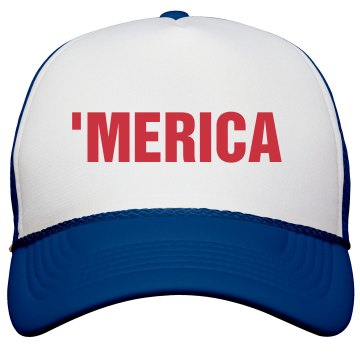 'Merica Trucker Hat Valucap Poly-Foam Snapback Trucker Hat