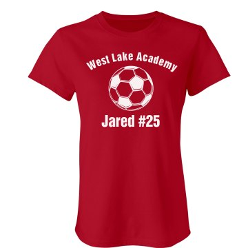 Academy Soccer Jersey Junior Fit American Apparel Fine Jersey Tee