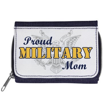 Proud Marine Mom Wallet Denim Wallet