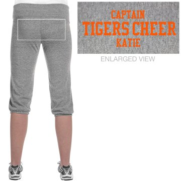 Tigers Cheer Capris Junior Fit Soffe Fleece Capri