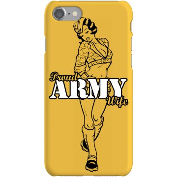Proud Army Wife iPhone 4 Rubber iPhone 4 & 4S Case White