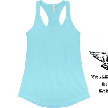 Eagle Racerback Tank Junior Fit Bella Sheer Longer Length Rib Racerback Tank Top