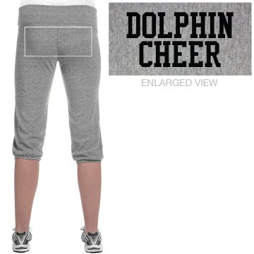 Dolphin Cheer Pant Junior Fit Bella French Terry Lounge Pants