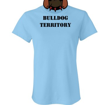 Bulldog Territory Tee Junior Fit Bella Crewneck Jersey Tee