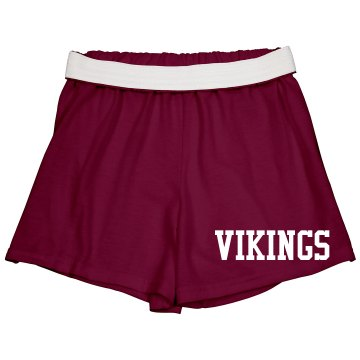 Vikings Cheer Shorts Junior Fit Soffe Cheer Shorts