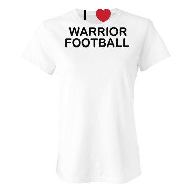 I Heart Football Tee Junior Fit Bella Crewneck Jersey Tee