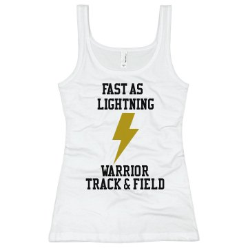 Fast as Lightning Track Junior Fit Bella Longer Length 1x1 Rib Tank Top
