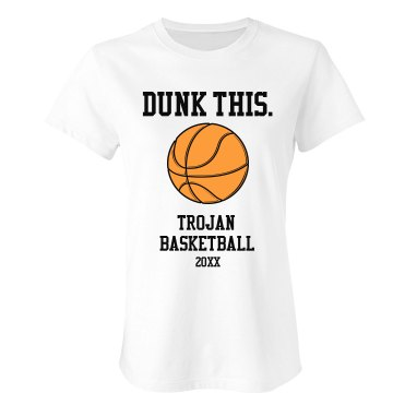 Dunk This Tee Junior Fit Bella Crewneck Jersey Tee