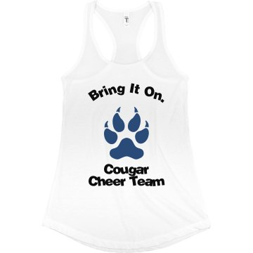 Bring It On Cheer Tank Junior Fit Bella Sheer Longer Length Rib Racerback Tank Top