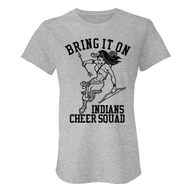 Bring It On Cheer Mascot Junior Fit Bella Crewneck Jersey Tee