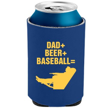 Dad Loves Beer And Ball The Official KOOZIE Can Kooler