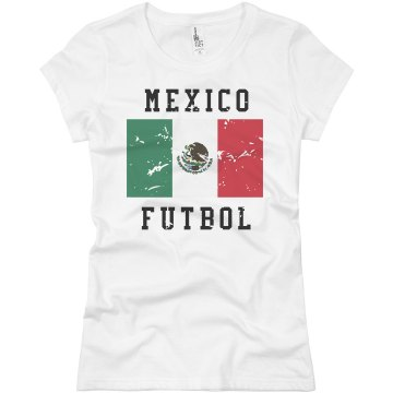 Mexico Futbol Shirt Junior Fit Basic Bella Favorite Tee
