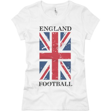 England Futbol T-shirt Misses Relaxed Fit Basic Gildan Heavy Cotton Tee