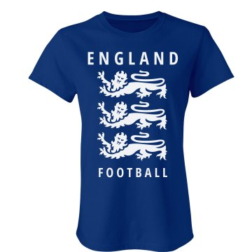 England Crest T-shirt Junior Fit Bella Crewneck Jersey Tee