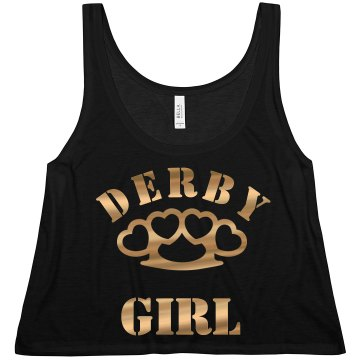 Derby Girl Ringer Tee Junior Fit Bella 1x1 Rib Ringer Tee