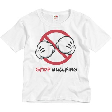Stop Bullying No Sign Youth Basic Gildan Ultra Cotton Crew Neck Tee
