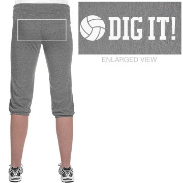 Dig It Volleyball Capris Junior Fit Soffe Fleece Capri