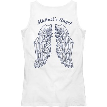 Michael's Angel Junior Fit Bella Sheer Longer Length Rib Tank Top