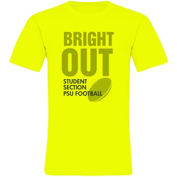 Bright Out Football Tee Unisex American Apparel Neon Crew Neck Tee